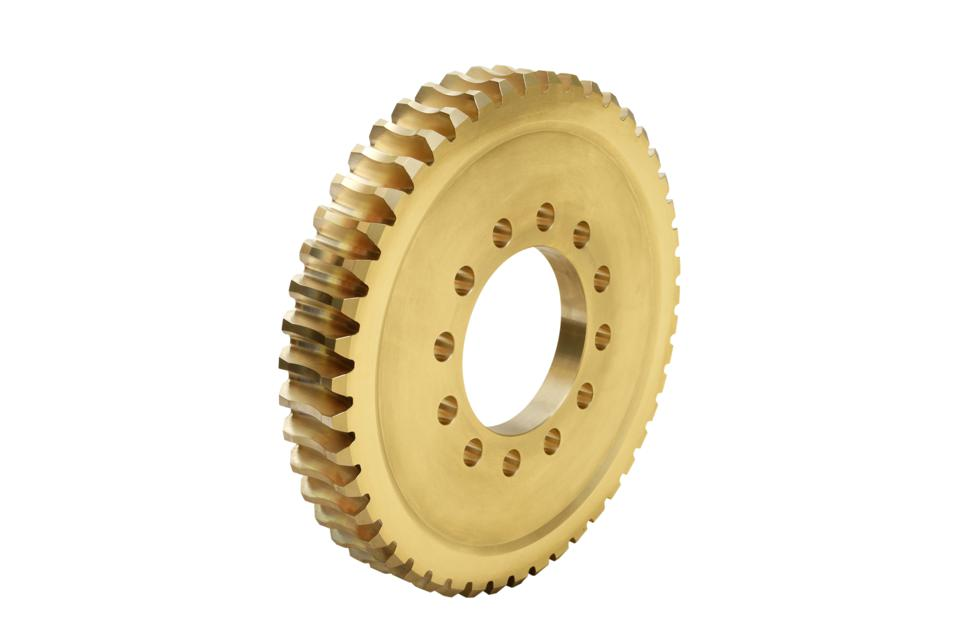 Gear wheel on a white background