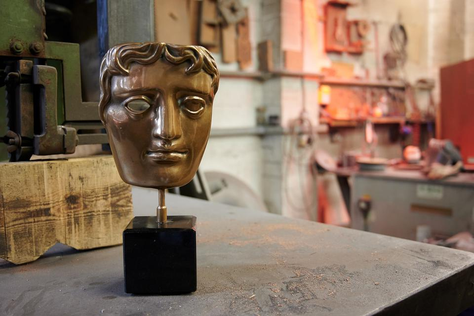 The BAFTA Award after being made.