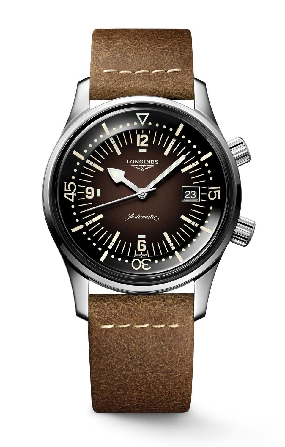 Longines Legend Diver with gradient brown dial