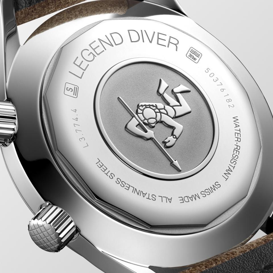 Longines Legend Diver engraved caseback