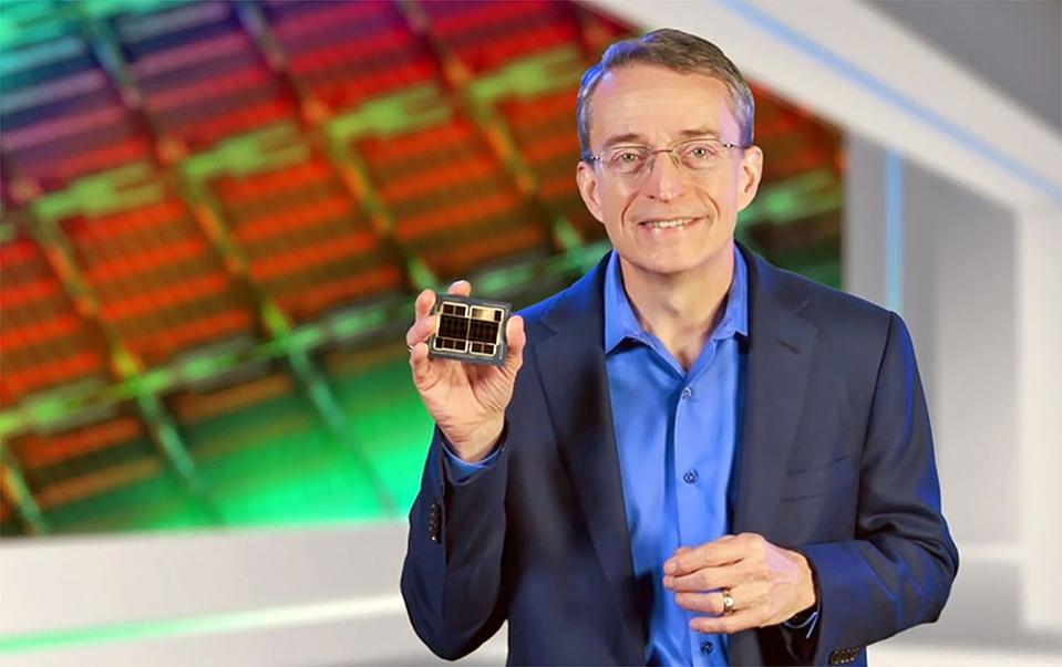 Intel CEO Pat Gelsinger Holding The Company's Ponte Vecchio GPU