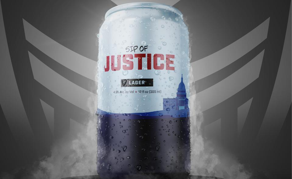 A can of Sip of Justice, Overwatch League team Washington Justice's beer
