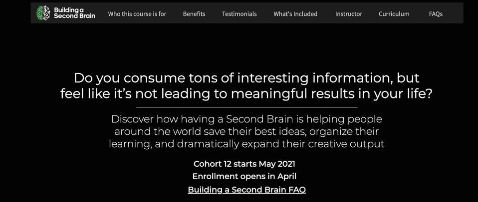 Building a Second Brain