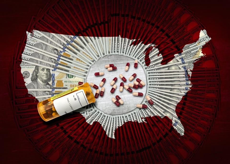 RX pharmacy prescription bottle of pills $100 USA v2
