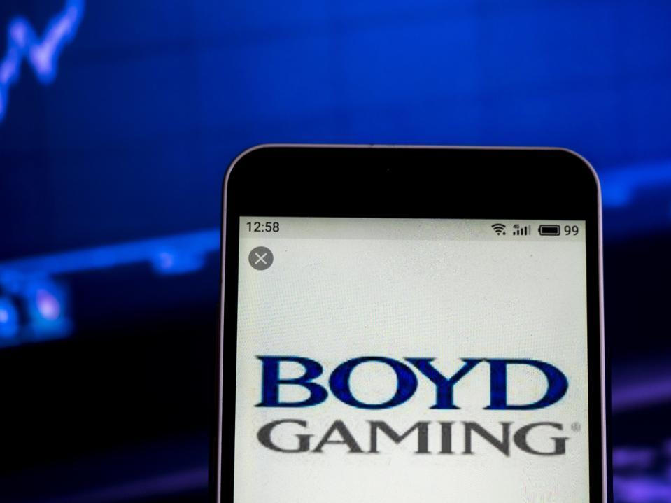 Boyd Gaming Hospitality company  logo seen displayed on a