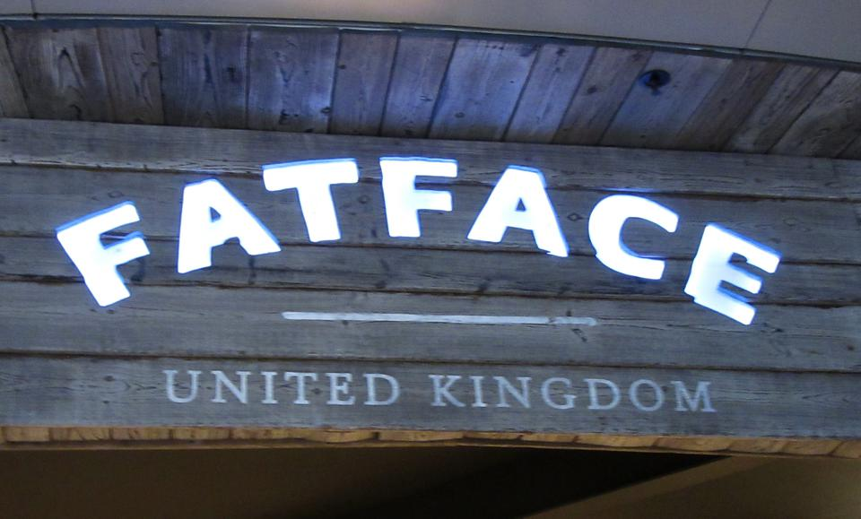 Fatface logo seen at their store in London Stansted Airport...