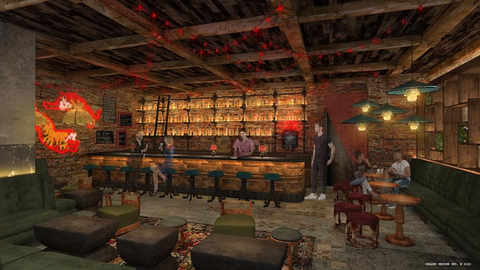″Famous Foods″ will have a 16-seat center bar and a speakeasy.