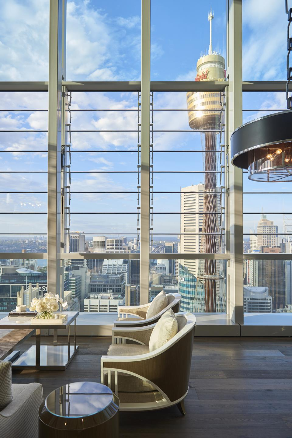 view of sydney harbor from Boyd Residence a anz tower in australia