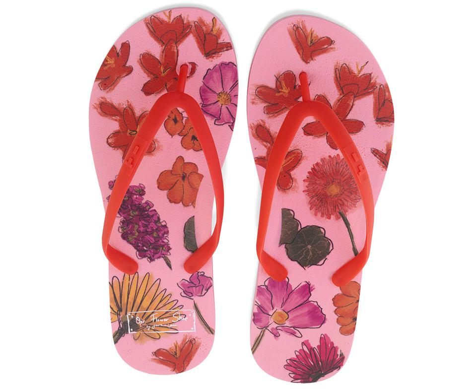 Jonathan Cohen x TIDAL Multi Pressed Flower Flip Flops