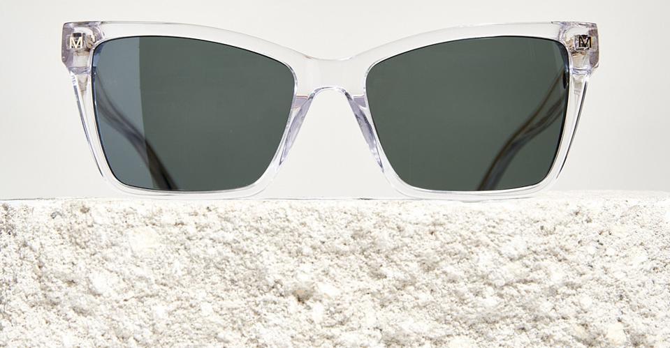 Machete Sally Sunglasses in Clear Biodegradable Acetate.