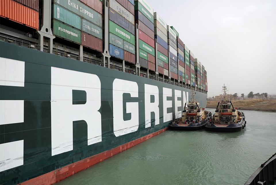 Suez Canal Remains Blocked By Grounded Container Ship