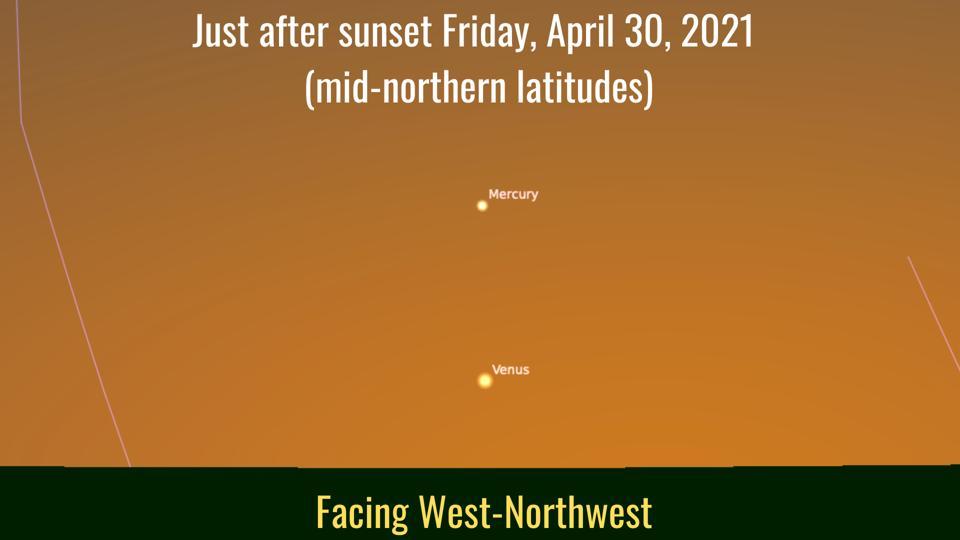 Venerdì 30 aprile 2021: Venere diventa facilmente visibile