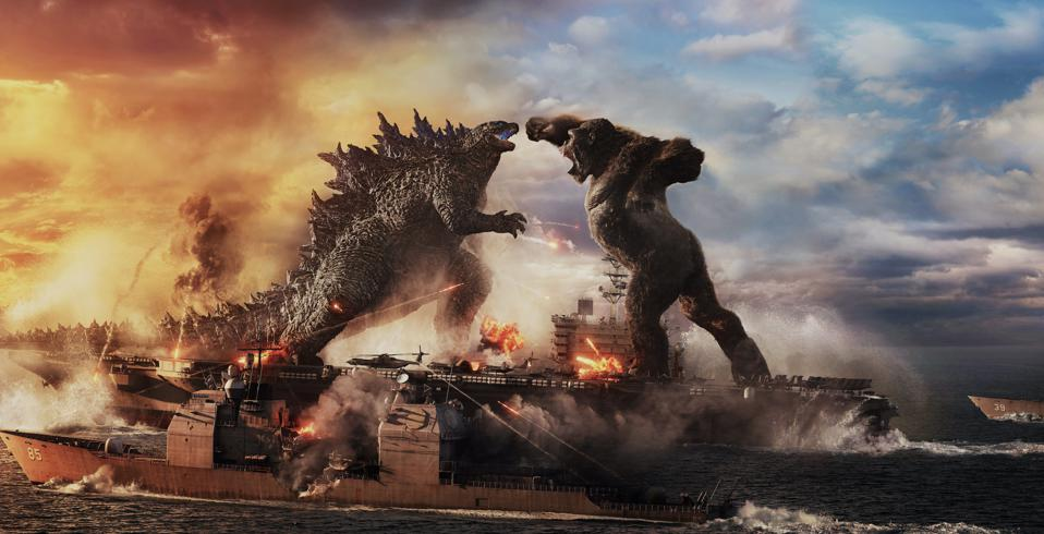 Two titans battle for supremacy in Warner's ″Godzilla vs. Kong.″