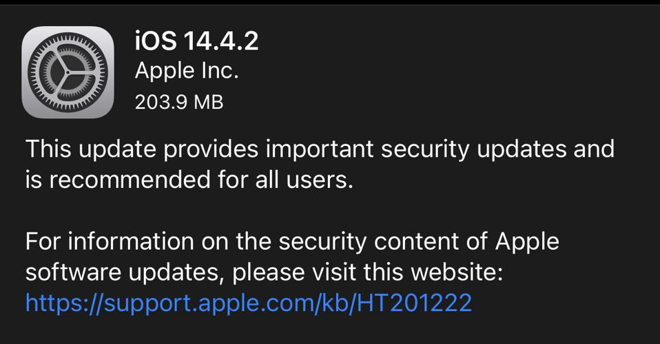 Another surprise iOS update.