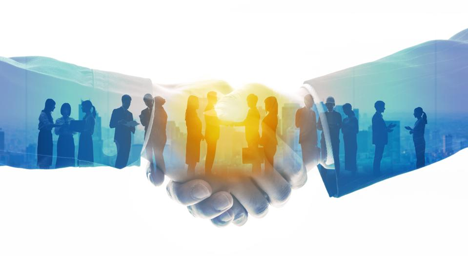 Group of employees. Human resources. Teamwork of business. Desired workplace