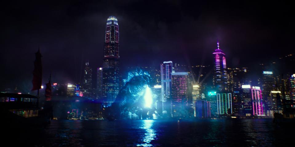 Godzilla lights up the night in ″Godzilla vs. Kong.″