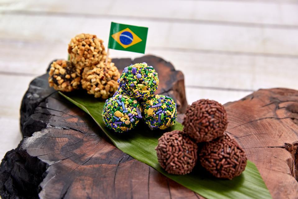 Cute Brazilian brigadeiros are a dessert offering at the 2021 Carnival celebration