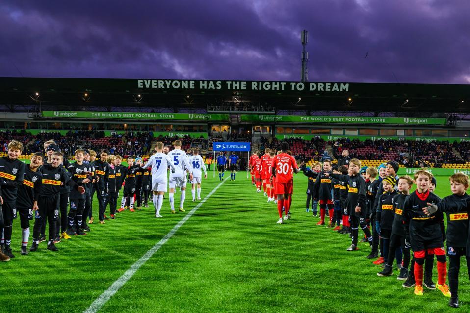 Right To Dream Park, the home ground of Danish club FC Nordsjaelland.
