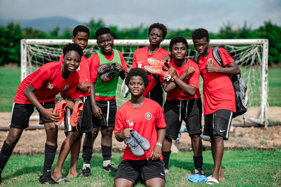 Players from The Right To Dream academy in Ghana.