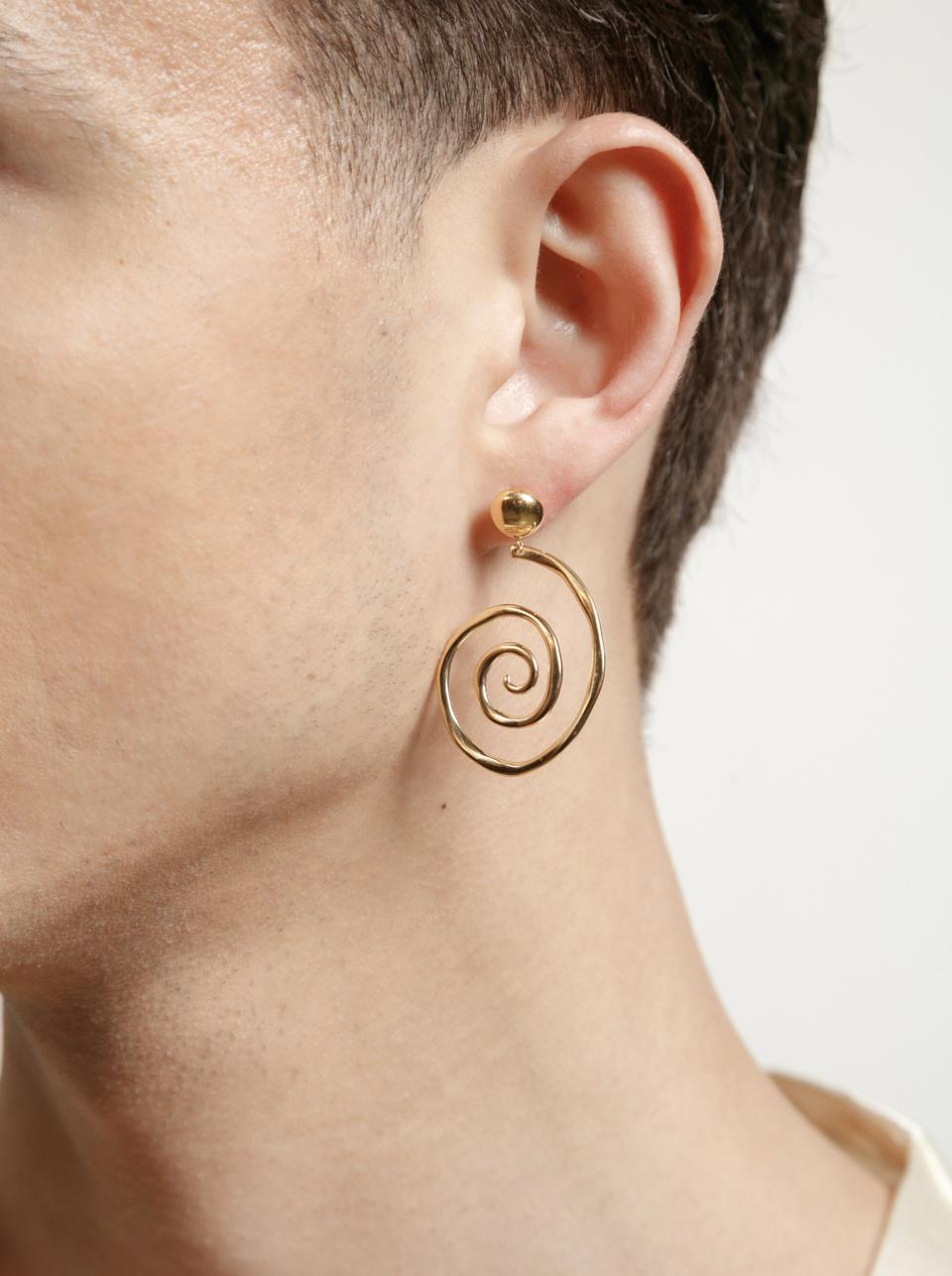 Wolf Circus Venus Earrings in recycled 14k gold plating over bronzer from the Contour collection.