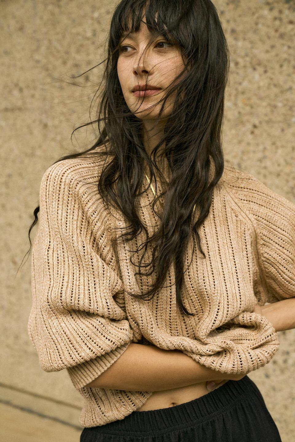Wol Hide Sweatshirt Sweater in Earth from their Domestic Color-Grown Cotton Capsule