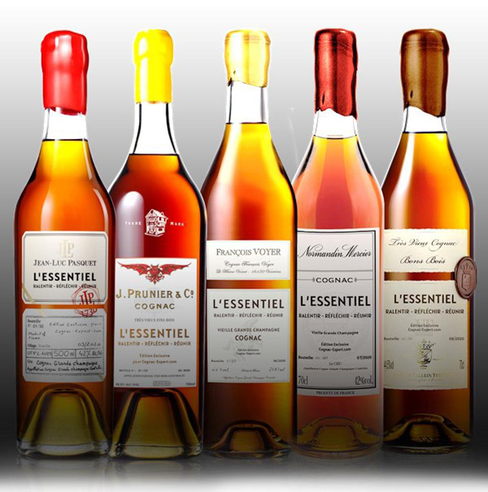 Some examples of the L'ESSENTIEL Cognac Core range