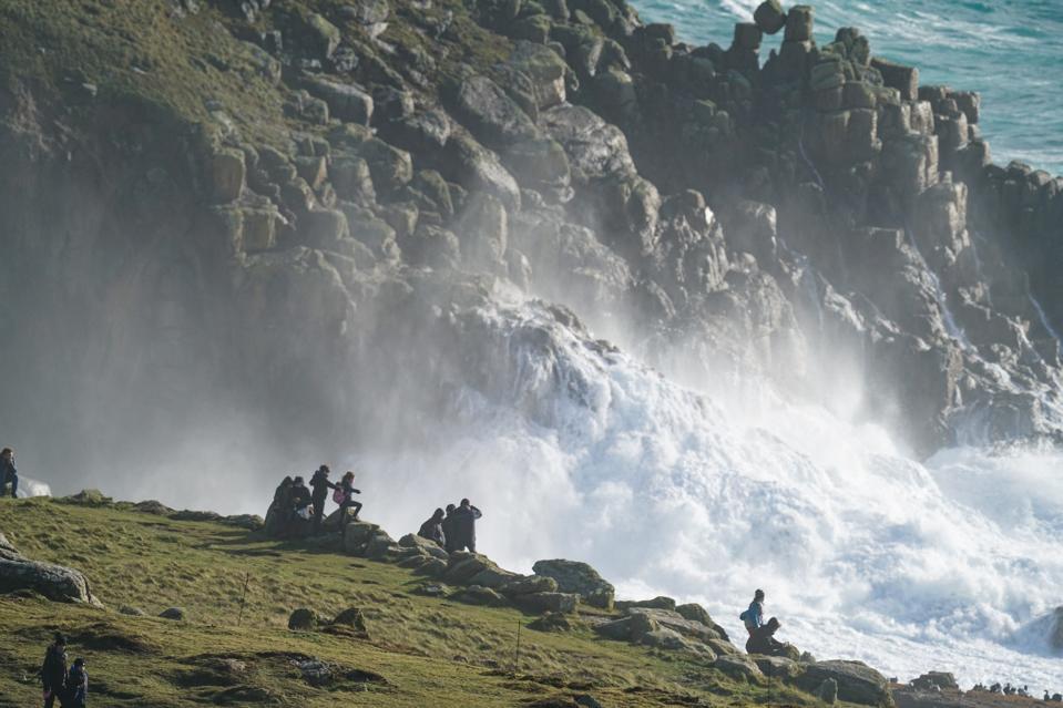 Storm Epsilon Batters The Cornish Coast