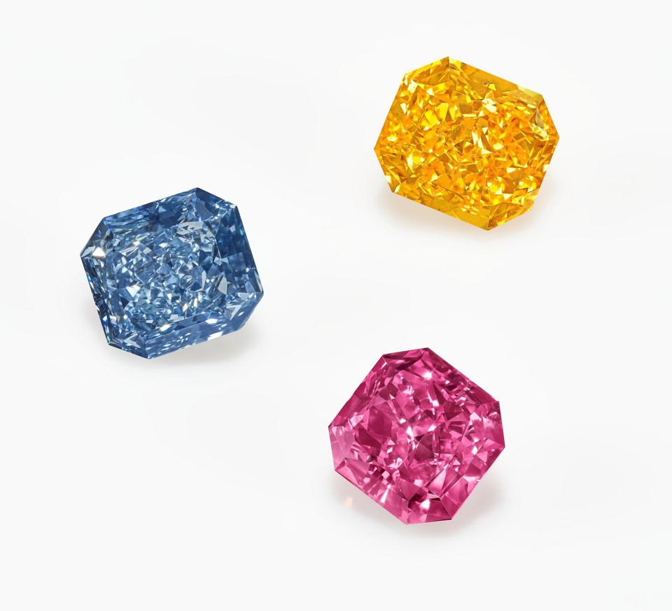 Named 'The Perfect Palette,' three gems range in price from $1.5 million to $3 million