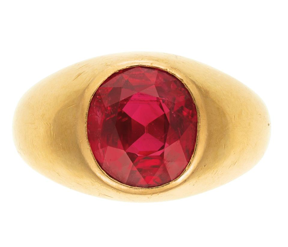 Burmese ruby ring by F.J. Cooper with an estimate of $1.2 million - $2.2 million
