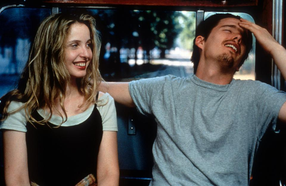 Julie Delpy And Ethan Hawke In 'Before Sunrise'