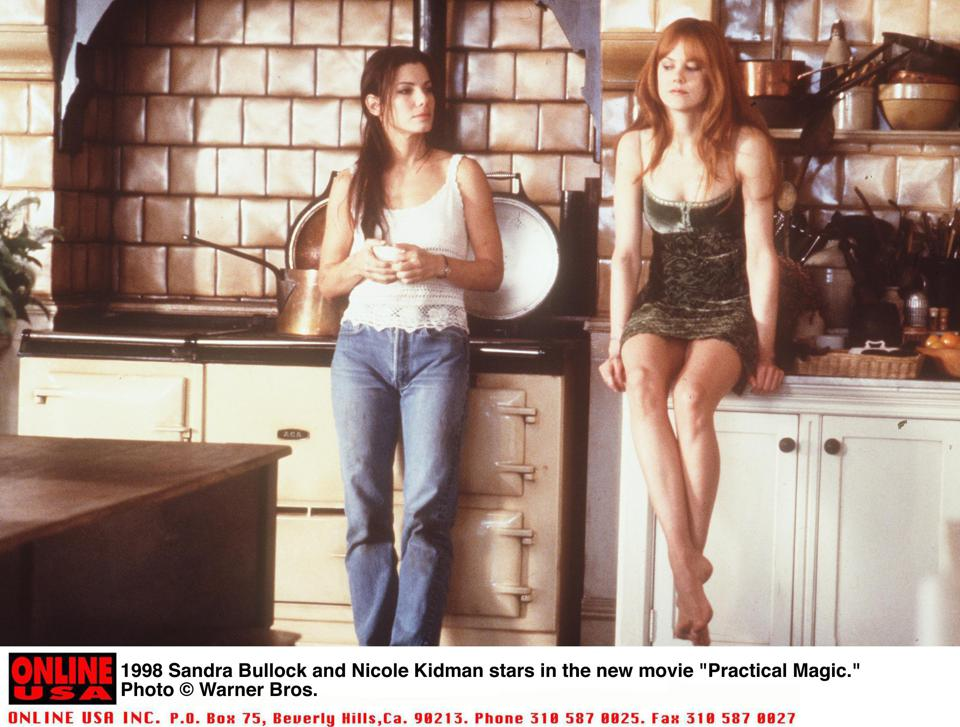 1998 Sandra Bullock and Nichole Kidman stars in the new movie ″Practical Magic.″