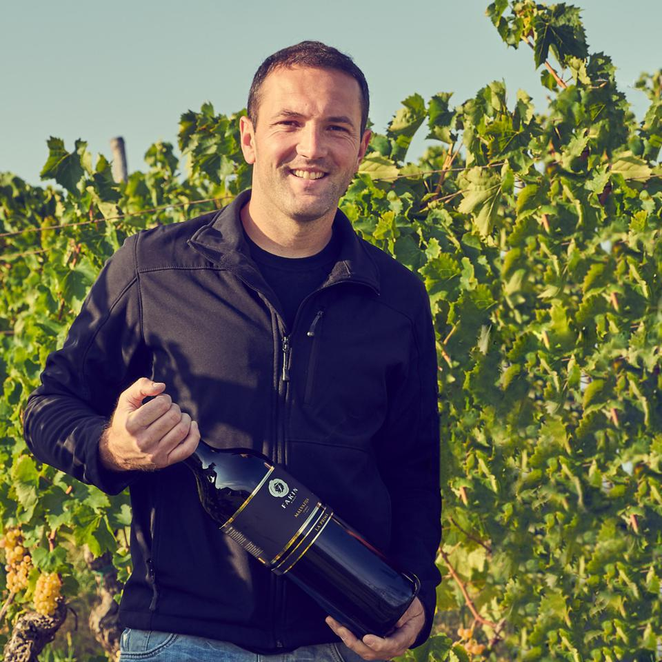 Marko Fakin in His Vineyards in Motovun, Istria, Croatia