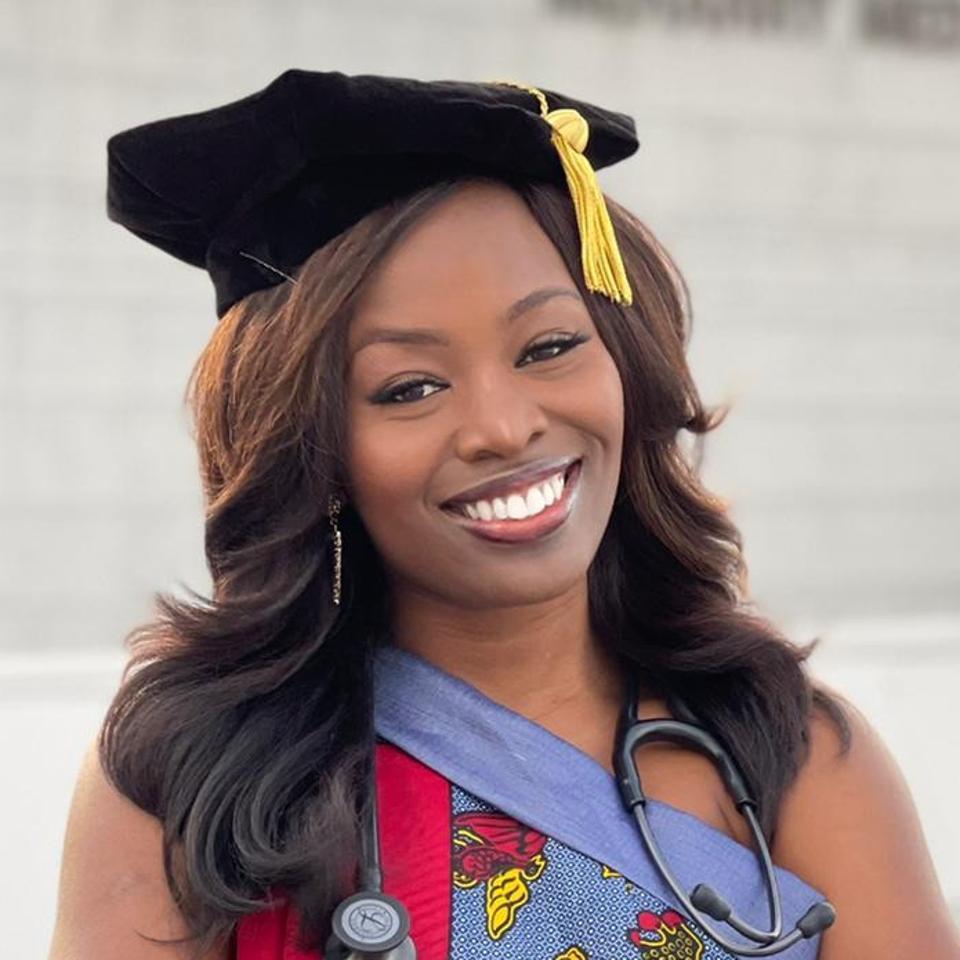 Headshot of Bathsheba Wariso smiling.