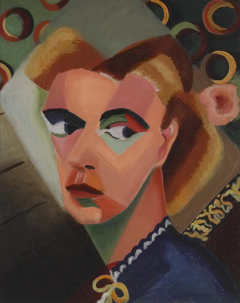 Dusti Bongé (American, 1903 - 1993), Self Portrait - The Balcony, 1943. oil on canvas, 20 x 16.
