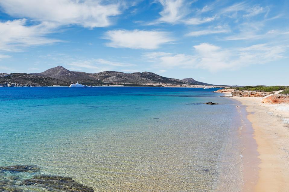 Kako Rema beach of Antiparos, Greece