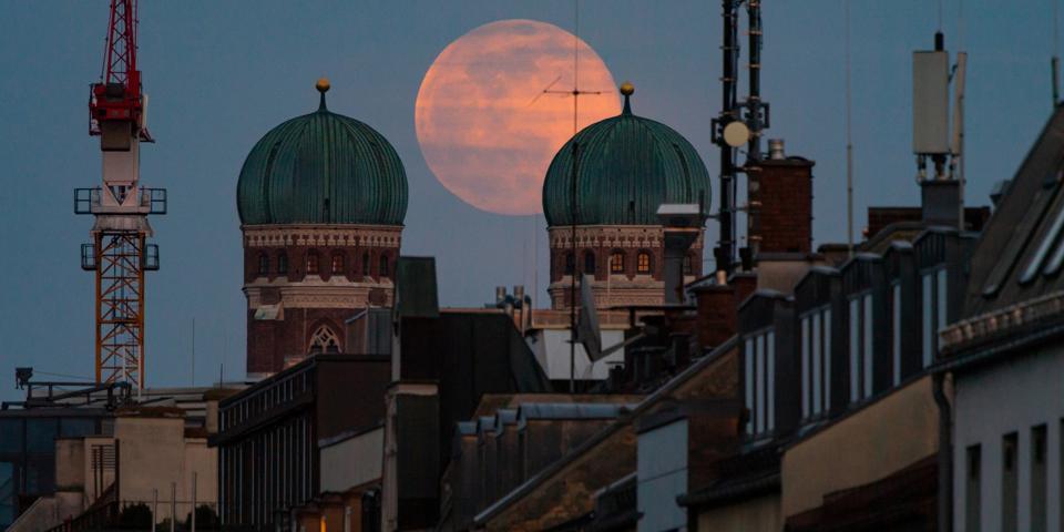 Full moon over Munich