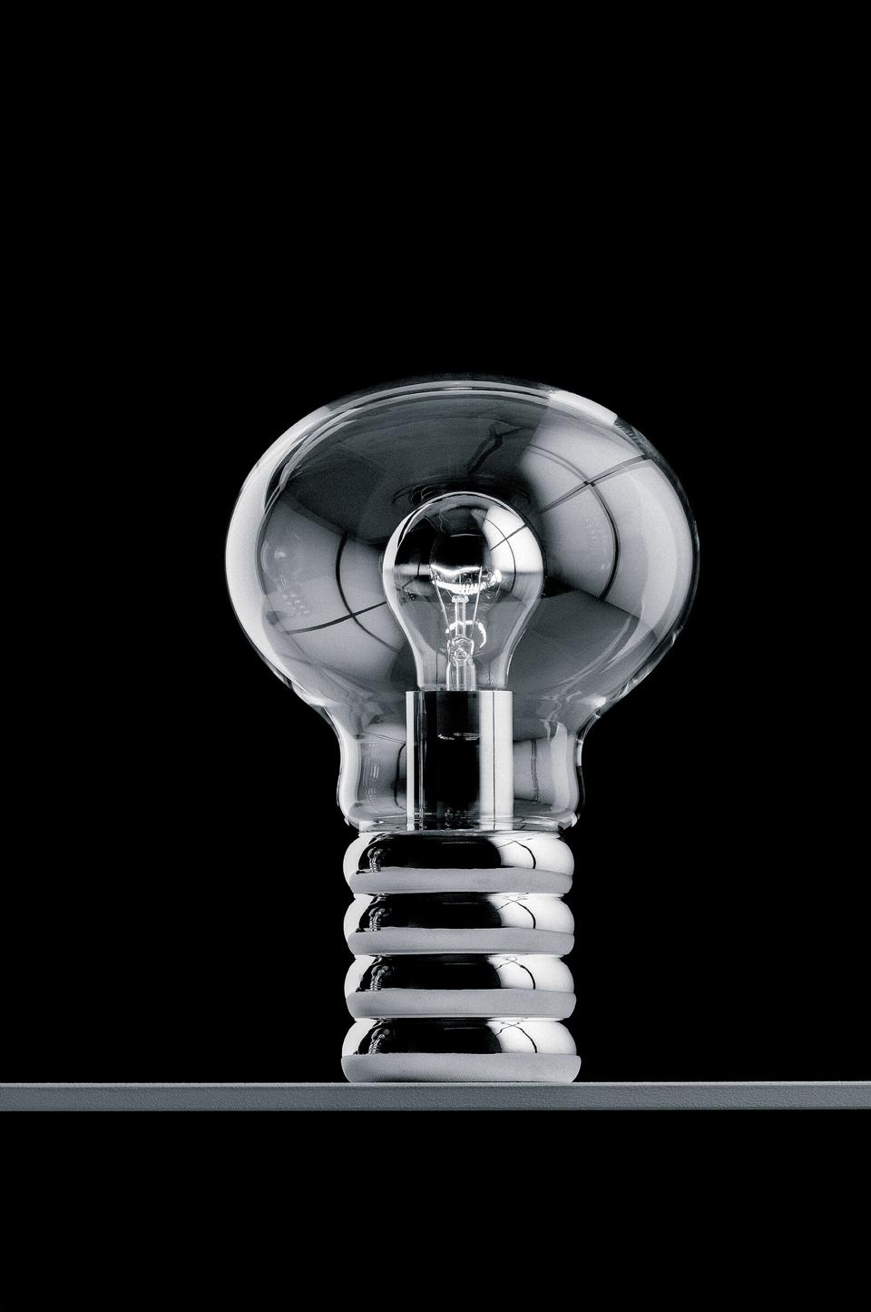 Ingo Maurer, manufactured by Ingo Maurer GmbH, Bulb Light, designed 1966, metal, glass, and bulb. © 1966 Ingo Maurer / Photo © tomvackphotographer