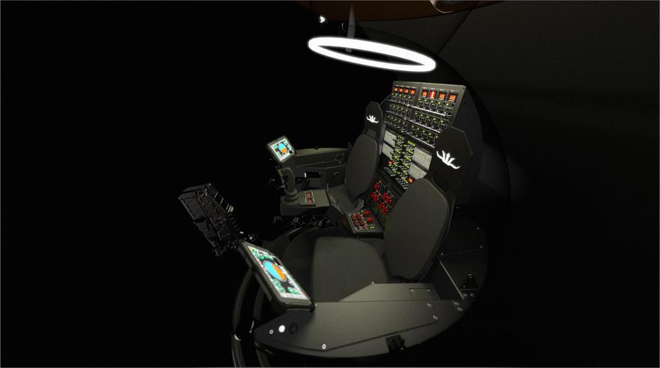 Interior of Triton experimental sub