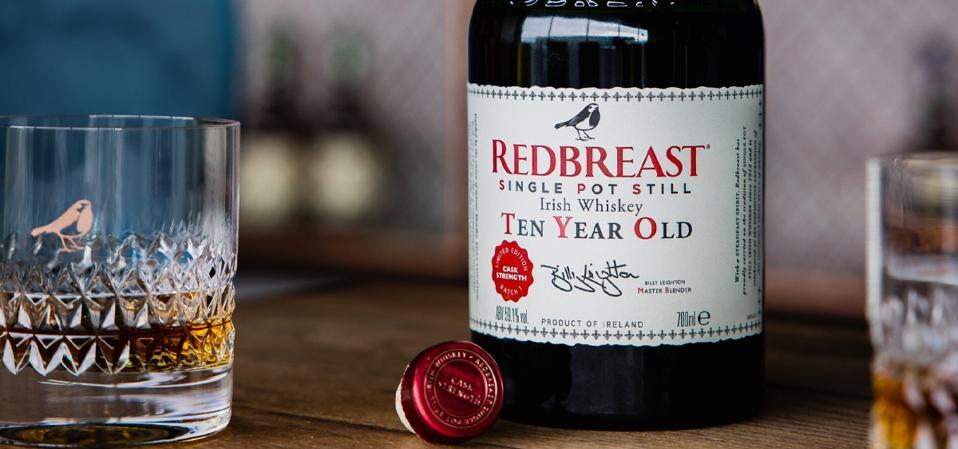 Redbreast Irish whiskey single pot still