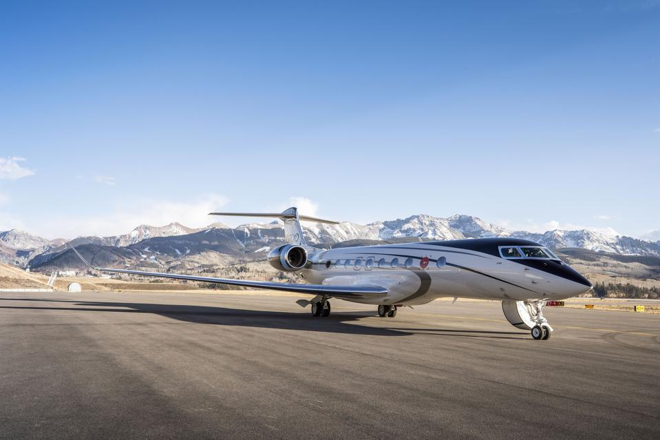 Gulfstream G700 jet on the tarmac in Colorado