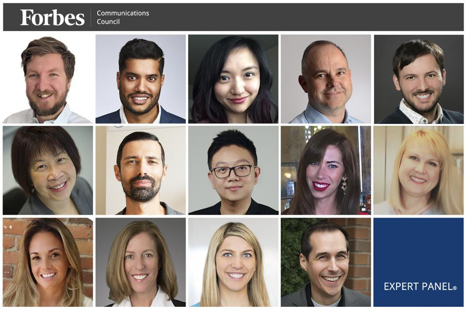 Photos of featured Forbes Communications Council members.