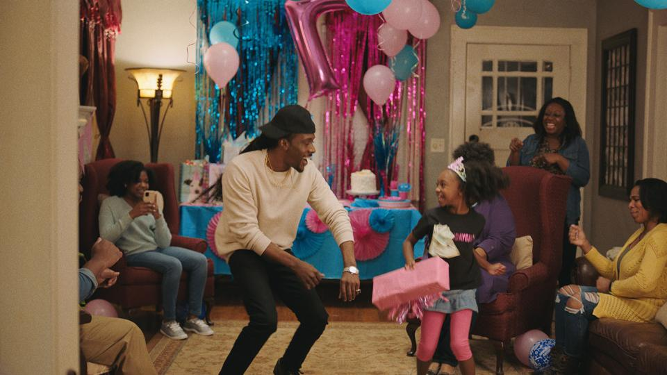 A scene from P&G's short film introducing its ″Widen The Screen″ program.