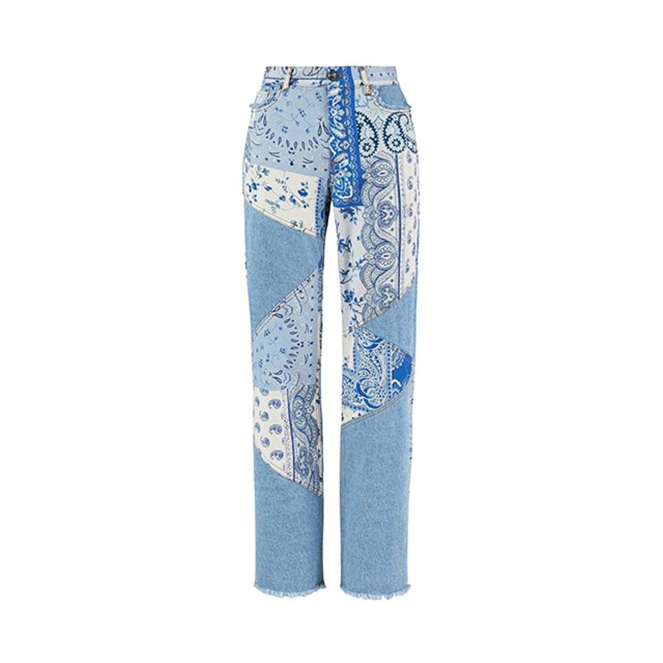 Etro Patchwork Print Jeans