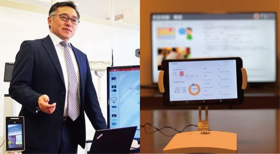 Kasai Jun (left) CEO of Forte Shizuka Gozen (right) a coronavirus solution for restaurants