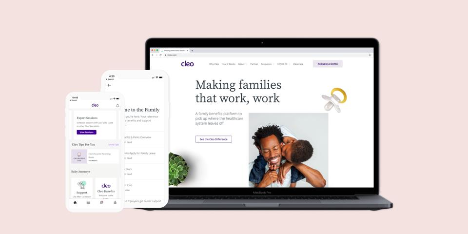 Through Cleo's app, working parents are able to access personalized content, a supportive parent community, and a global network of certified experts.
