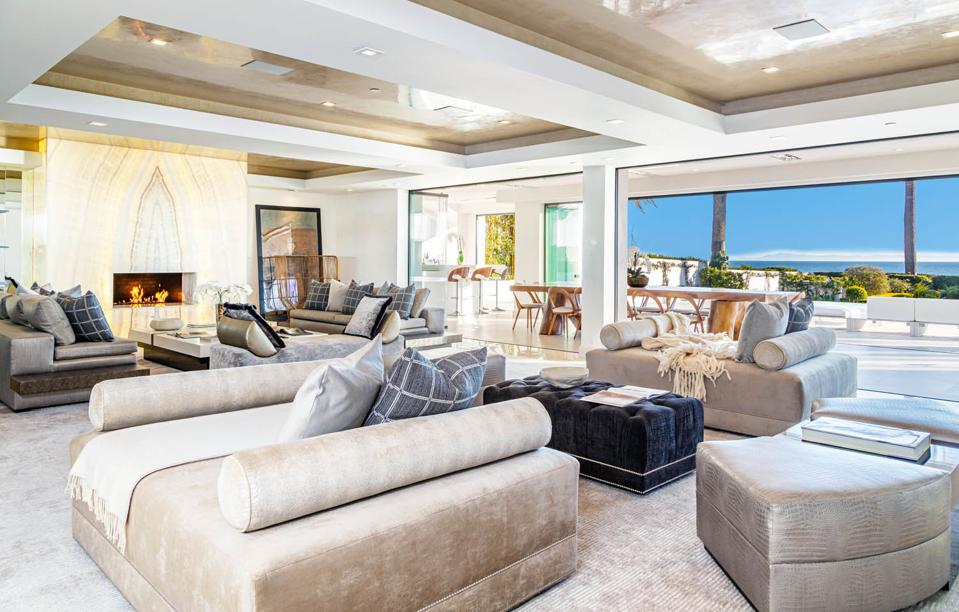 living room inside 1150 channel dr luxury montecito house santa barbara california