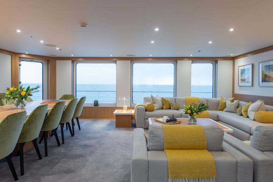 The interior of the Game Changer superyacht