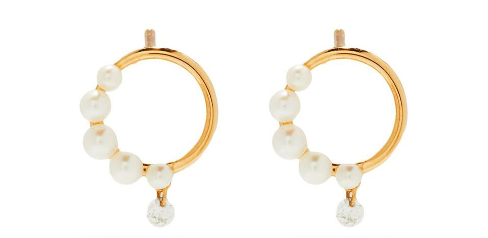 Diamond and Pearl Earring by Persée