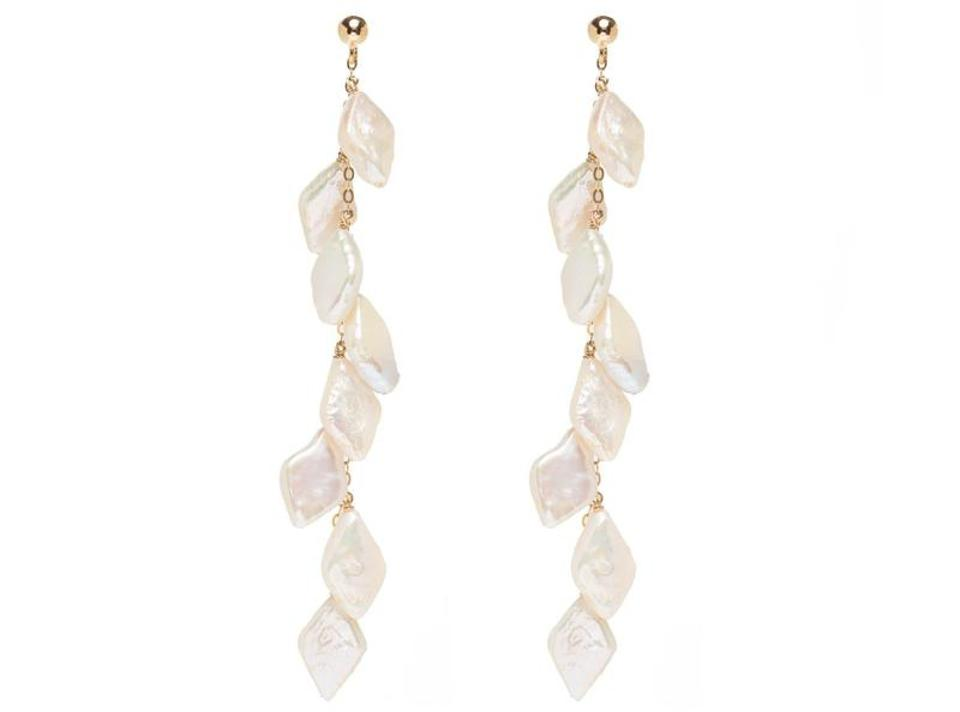 Lola 14k Gold Waterfall Pearl Earrings by Amara Palm