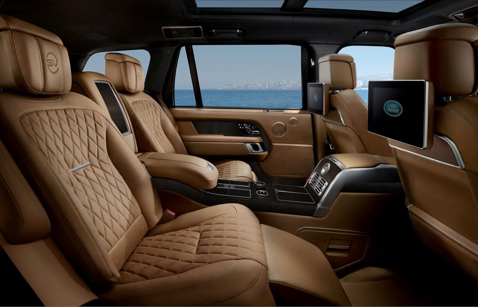 Rear seats of the Range Rover SVAutobiography Ultimate edition